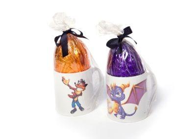 Crash Bandicoot & Spyro Mug & Easter Egg Set