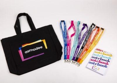 Asmodew=e Lanyards & Bag